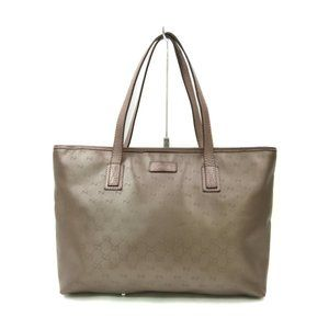 authentic Gucci Tote Bag Browns PVC